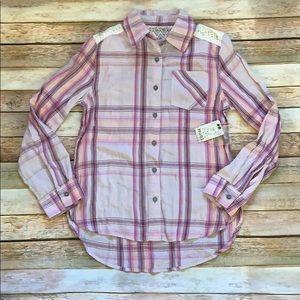 NWT Mudd Purple Plaid Shirt